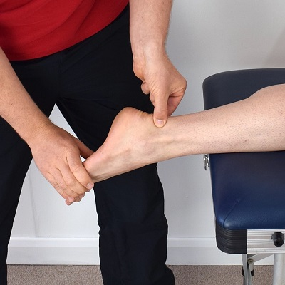 Physio on an foot ligament